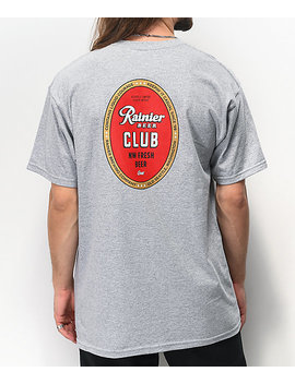 Casual Industrees X Rainier Members Grey T Shirt by Casual Industrees