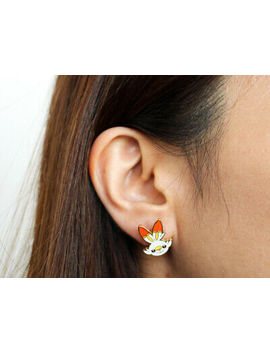 Pokemon Center Pokemon Accessory Series Pierced Earrings P41 Scorbunny Sobble Gr by Ebay Seller