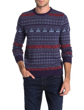 Wool Blend Holiday Fairisle Sweater by Original Penguin