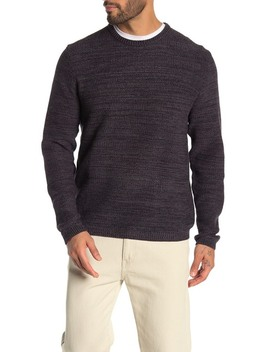 Moss Stitch Crew Neck Sweater by Weatherproof Vintage