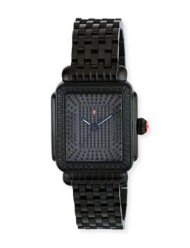18mm Deco Noir Ultimate Pave Diamond Watch by Michele