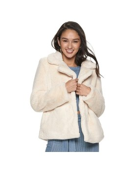 Juniors' Jou Jou Faux Fur Jacket by Jou Jou