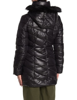 Shirley Faux Fur Trim Puffer Parka by Marc New York