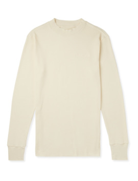 Slim Fit Waffle Knit Cotton Mock Neck T Shirt by Aimé Leon Dore
