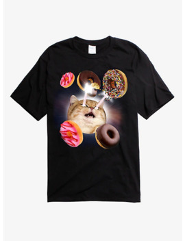 Cat Laser Beam Donuts T Shirt by Hot Topic