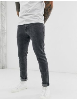 Selected Homme Slim Fit Organic Cotton Jeans In Grey by Selected Homme