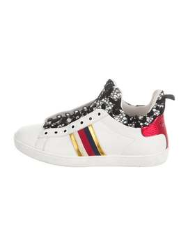 New Ace Lace High Top Sneakers by Gucci