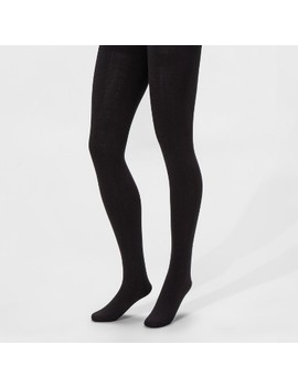 Women's Fleece Lined Tights   A New Day™ Black by A New Day