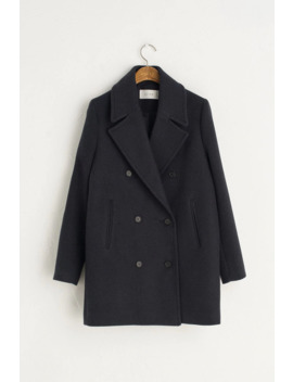 Twill Double Coat, Navy by Olive