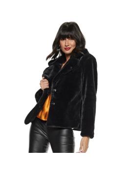 Women's Nine West Faux Fur Short Coat by Nine West