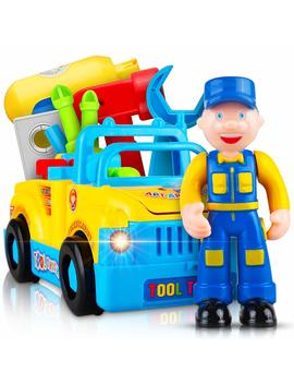 Take Apart Truck Learning Toys For 3 Year Old Boys & Girls  Vehicle Playset With Lights, Sounds, Drill And Tools For Kids by Cif Toys