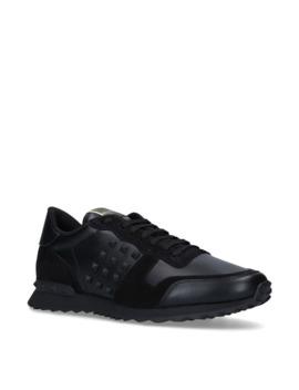 Leather Stud Running Sneakers by Valentino Garavani