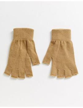 Asos Design Fingerless Gloves In Camel by Asos Design