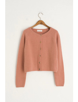 Jeong Mini Cardigan, Pink by Olive