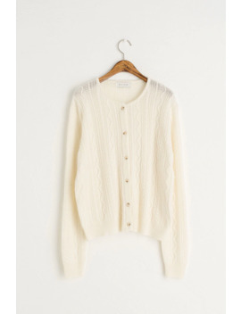 Mini Cable Cardigan, Ivory by Olive