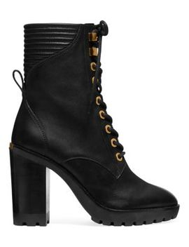 Bastian Leather Mid Calf Boots by Michael Michael Kors