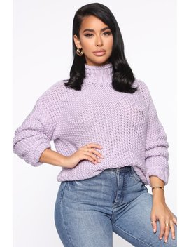 Sweet Tooth Knit Sweater   Lavender by Fashion Nova
