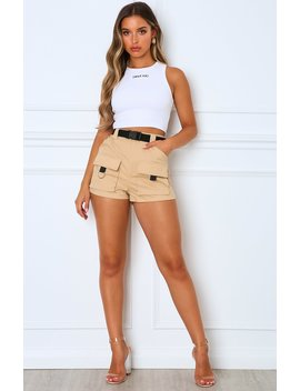 Self Titled Shorts Beige by White Fox