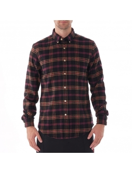 Compact Check Shirt   Black And Purple by Portuguese Flannel