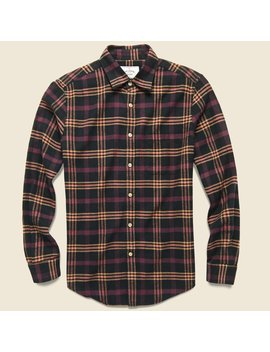 Compact Plaid Flannel   Black/Pink by Portuguese Flannel