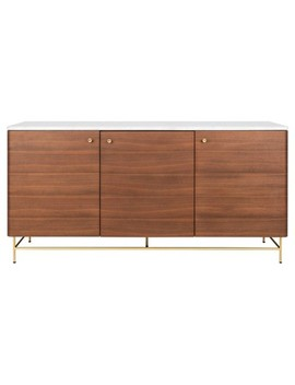 Channing 3 Door Sideboard Natural   Safavieh by Safavieh