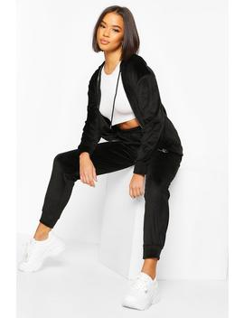 Velour Tracksuit by Boohoo