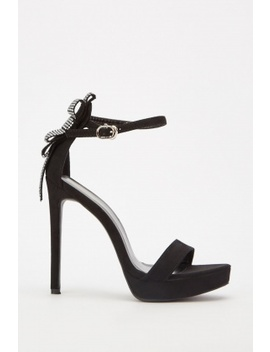Encrusted Back Heeled Sandals by Everything5 Pounds