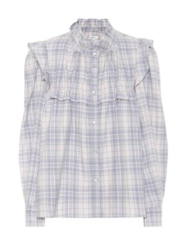 Idety Check Cotton Blouse by Isabel Marant, Étoile