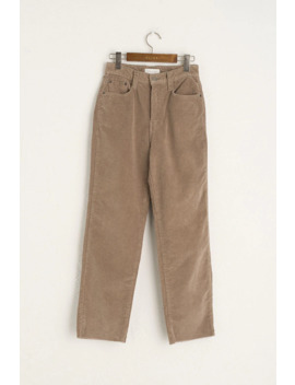 Cord Cotton Jean, Beige by Olive