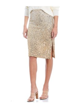 Ombre Allover Sequin Skirt by Chelsea & Violet