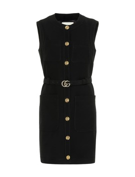 Silk And Wool Minidress by Gucci