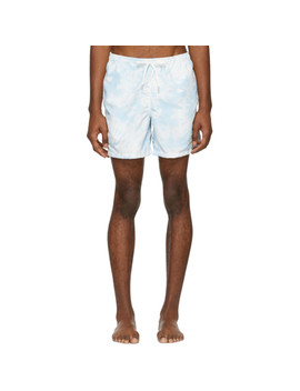 Blue Tie Dye Swim Shorts by Bather