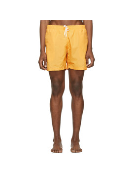 Yellow Solid Swim Shorts by Bather