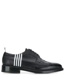 Contrast 4 Bar Emboss Longwing Brogue by Thom Browne