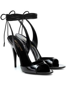 Anouk 110 Patent Leather Sandals by Saint Laurent