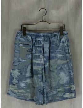 Facetasm ◆ Easy Short Pants /Free/ Silk / Cotton / Blue / Whole Pattern by Rakuten Global Market