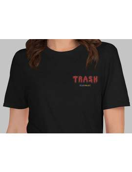 Trash   Embroidered Shirt, Lil Peep, Fairy Kei,Hentai,Aesthetic Clothing, Japanese Shirt, Anime, Goth, Aesthetic,Embroidery,Rainbow by Etsy