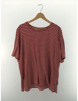 Unused ◆ Cotton / Border T Shirt/ Cotton Horizontal Stripe T Shirt /1/ Red / White by Rakuten Global Market