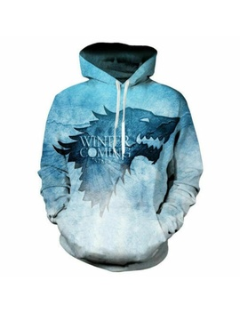 Fashion Women/Men's Game Of Thrones 3 D Print Hoodies Sweatshirt Pullover by Wish