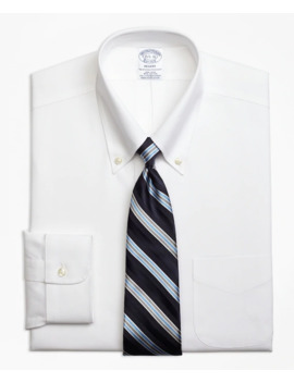 Stretch Regent Fitted Dress Shirt, Non Iron Button Down Collar by Brooks Brothers