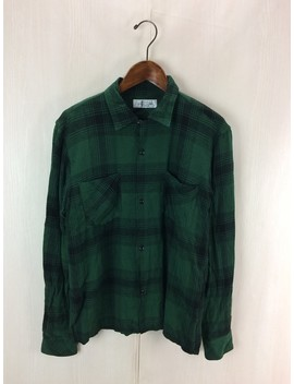 Unused ◆ アンユーズド / Long Sleeves Shirt /Gvw0368045666/3/ Rayon /Grn/ Check by Rakuten Global Market