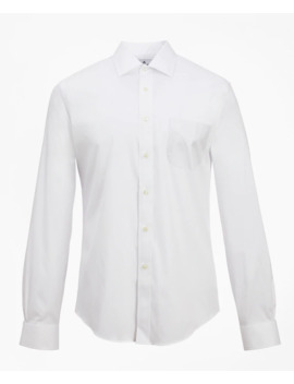 Regent Fitted Dress Shirt, Performance Non Iron With Coolmax®, Ainsley Collar Twill by Brooks Brothers