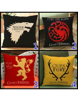 A Song Of Fire And Ice Game Of Thrones Logo Velvet Pillowcase Sofa Cushion by Wish