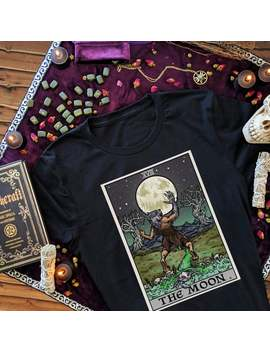 The Moon Tarot Card Werewolf Shirt Men Pagan Witch T Shirt Halloween Gothic Clothing Women Plus Size Witchcraft Gift Goth Gifts For Witches by Etsy