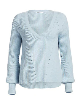 Shimmer Merino Wool Cashmere Sweater by Derek Lam 10 Crosby