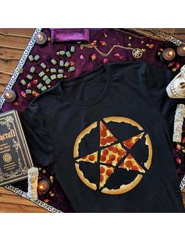 Pizza Pentagram Funny Pizza Shirt For Men Halloween Witch Clothing Women Plus Size Pentacle Samhain Gift For Her Witchy Gifts For Witches by Etsy