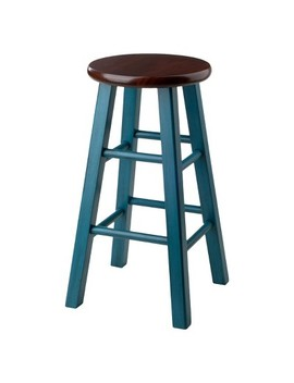 "24"" Ivy Counter Stool   Teal   Winsome by Winsome"