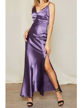 Lora Satin Plunge Cami Dress by Storets