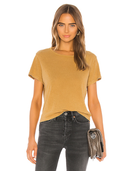 Classic Tee In Mineral Wash Sand by Re/Done