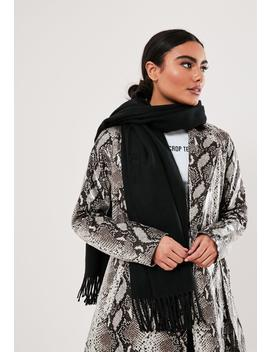 Black Blanket Scarf by Missguided